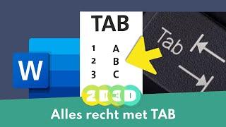 Doe meer met je TAB toets in Word, echt super handig!