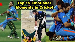 Top 15 Most Emotional Moments in Cricket History