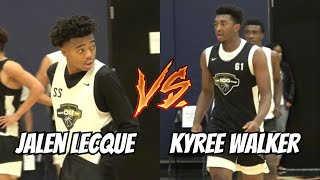 Jalen Lecque vs Kyree Walker - INSTANT CLASSIC! Full Highlights - NBPA Top 100 Camp, Day 2