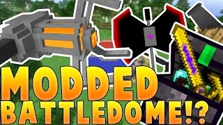 Minecraft MOST OVERPOWERED ARMOR EVER MODDED BATTLEDOME CHALLENGE - Minecraft Mod