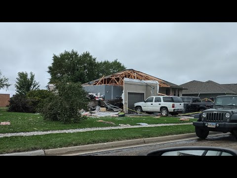 A very small portion of the EF2 tornado damage in Sioux Falls