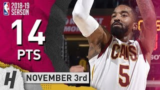 JR Smith Full Highlights Cavaliers vs Hornets 2018.11.03 - 14 Pts, 4 Ast, 2 Rebounds!