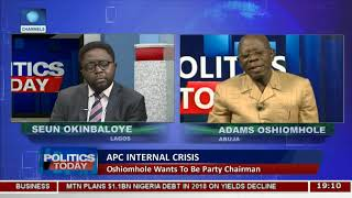 It Is Time To Inject New Blood Into The APC,Oshiomhole Reacts To Declaration Pt.1 |Politics Today|