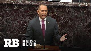 Representative Hakeem Jeffries quotes The Notorious B.I.G. during Senate impeachment trial