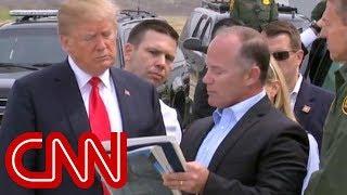 Trump tours border wall prototypes