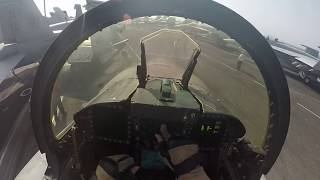 F/A-18C Aircraft Carrier Preflight and Startup