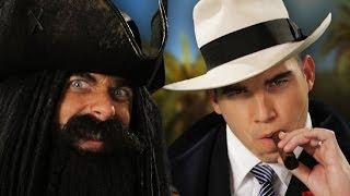 Blackbeard vs Al Capone. Epic Rap Battles of History