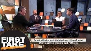 Jason Fitz: Carmelo Anthony's stock is 'incredibly' low | First Take | ESPN