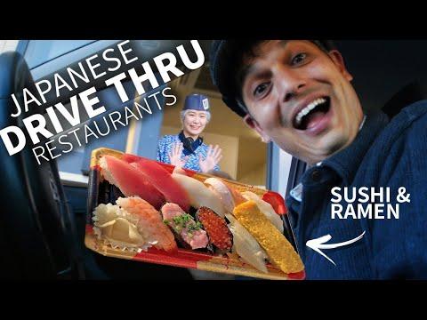 Japanese Drive-Thru Sushi & Ramen Experience ★ ONLY in JAPAN