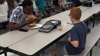 Her Son Ate Alone At School Each Day Then When A Football Star Sat Next To Him Mom Was In Tears