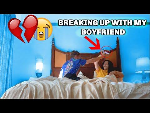 Breaking Up With My Boyfriend On Valentines Day **HE GOT SAD**