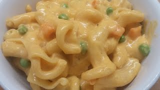 Mac-N-Cheese with Chicken Peas and Carrots