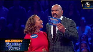 The Harvey Family Plays Fast Money - Celebrity Family Feud