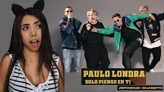 PAULO LONDRA 🇦🇷 - SOLO PIENSO EN TI ft. De La Ghetto, Justin Quiles | REACCIÓN *y el perreito? 🥺*