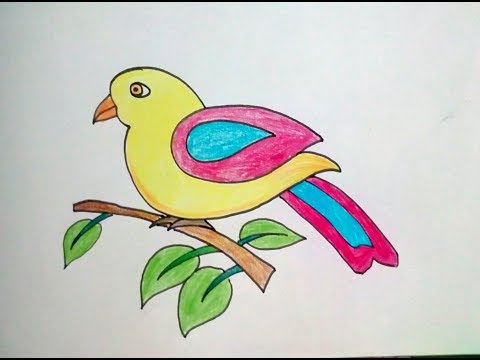 3113 How To Draw Bird Easy Drawing For Kids Step By Step