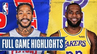 PISTONS at LAKERS   FULL GAME HIGHLIGHTS   January 5, 2020