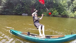 Kayak and Canoe safety: How to get in a swamped kayak or canoe
