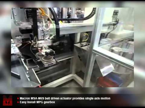 Automated Assembly Driven By Macron Belt Driven Components