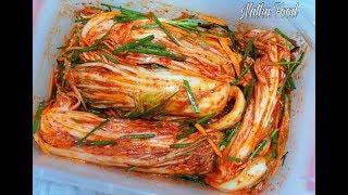 Kim chi ngon tuyệt vời, làm đơn giản, nguyên liệu dễ tìm , kimchi recipe || Natha Food