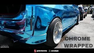 Perodua Alza Sky Blue Chrome Wrapped - Sunroof Gathering 3 2017