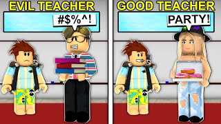 EVIL Teacher Vs GOOD Teacher In Roblox Brookhaven..