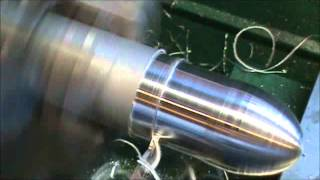 Mach 3 CNC lathe turning an Egg Shape In 6061 Aluminum