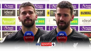 Emotional Alisson reacts to scoring injury time winner against West Brom!
