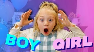 Everleigh's GENDER REVEAL surprise! *Another sibling coming!*
