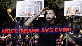 Whit3 Iverson & D'Vontay Friga Takeover Park! Most Insane 5v5 Basketball EVER!
