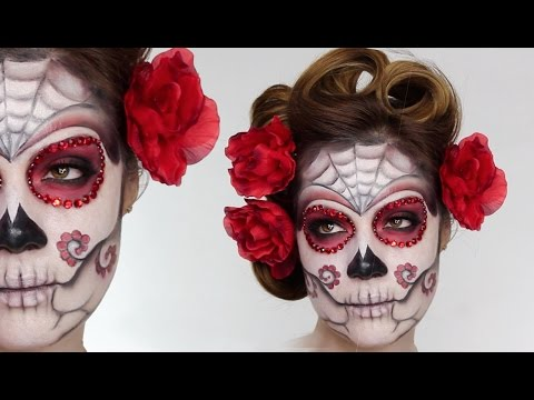 Baixar Easy Sugar Skull | Day Of The Dead MakeUp Tutorial For Halloween