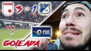 Santa Fe vs Millonarios (3-1) TORNEO FOX Resumen (DESDE LA TRIBUNA)