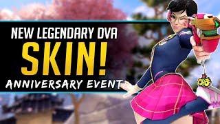 Overwatch NEW Legendary Skin Dva - Anniversary Event 2019