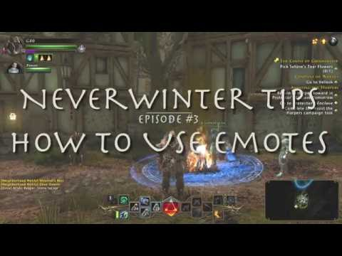 How to use Emotes NeverWinter PS4