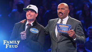 Family Feud & Chill! Vanilla Ice Plays Fast Money! | Celebrity Family Feud