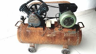 Restoration rusty old air compressor | Restore vintage air compressor
