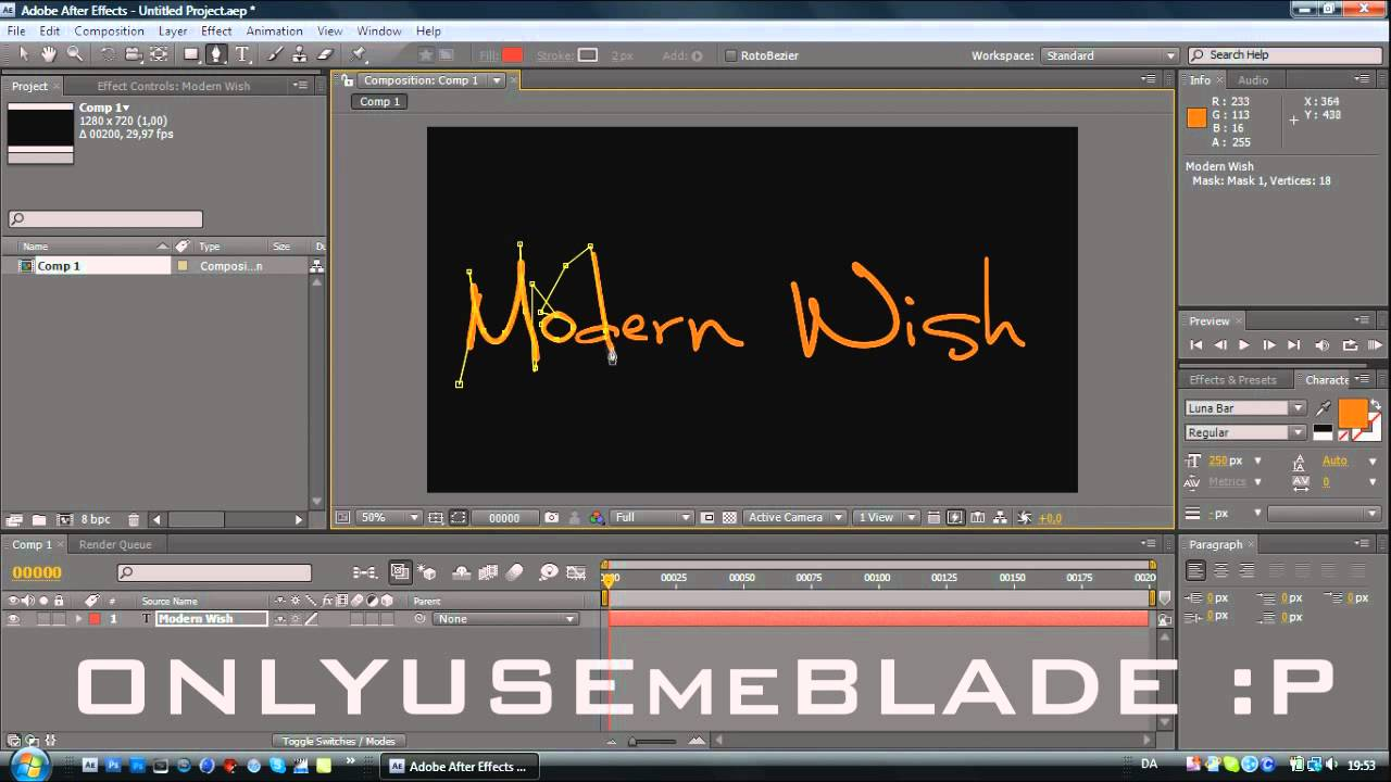 [After Effects] Handwriting Effect TUTORIAL