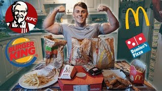 EVERY FAST FOOD CHALLENGE | Epic Cheat Meal