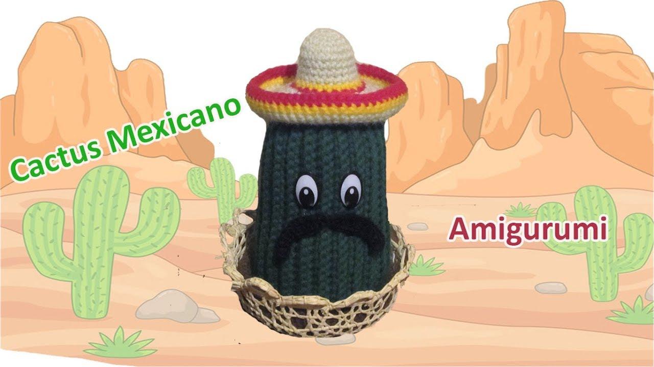 Mini Cactus Amigurumi Tejido A Crochet - $ 135.00 en Mercado Libre | 720x1280