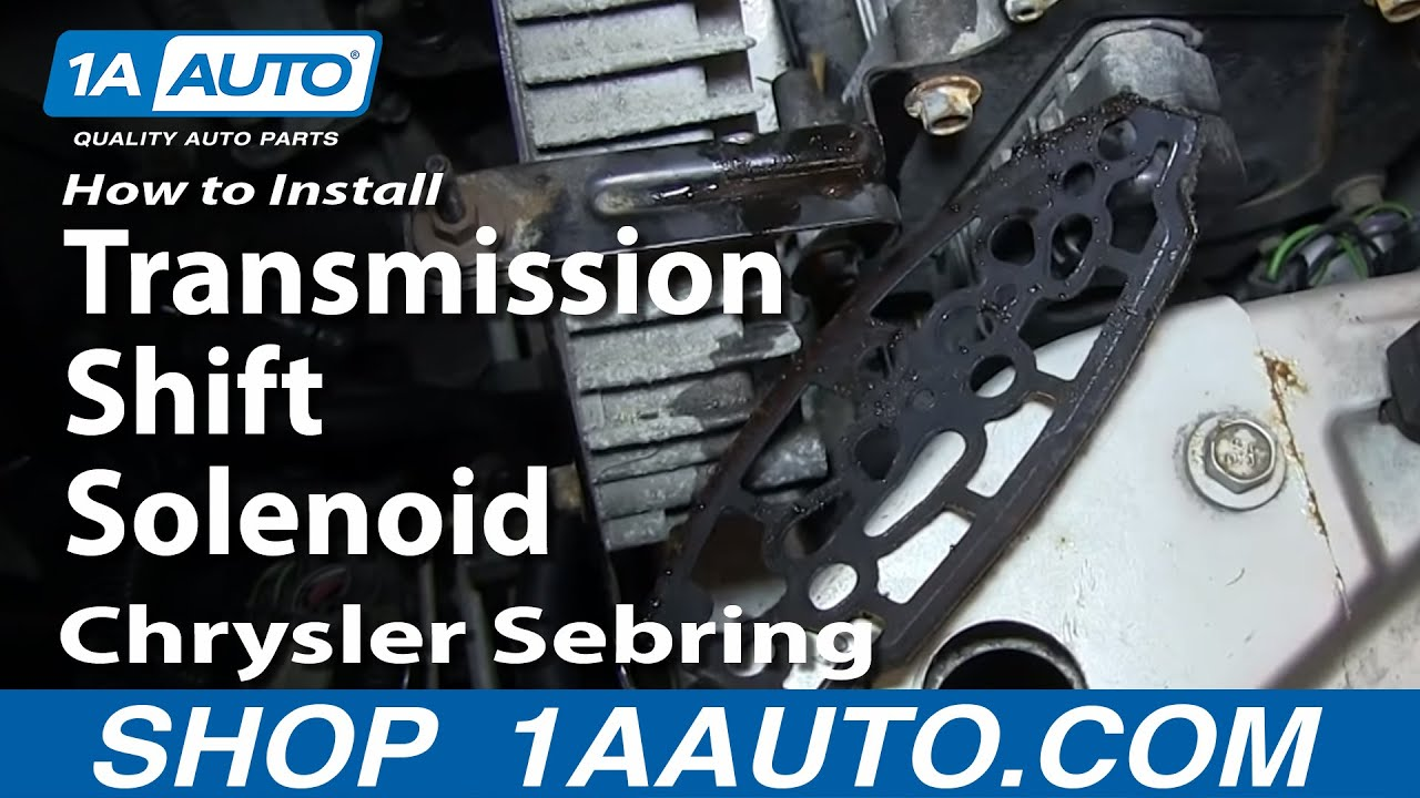 How To Install Replace Transmission Shift Solenoid 2001 06