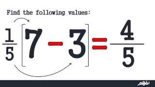 Subtraction of rational numbers - نفهم