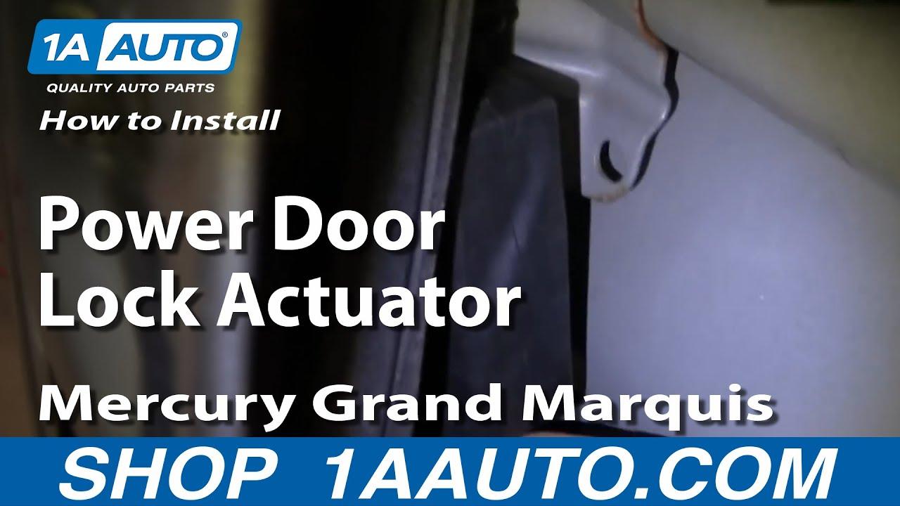 How To Install Replace Power Door Lock Actuator Mercury