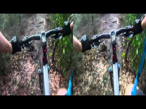 3D GoPro MTB @ Manly Dam - 3D Mountain Biking