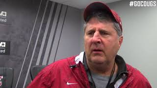 Mike Leach after practice 3.22