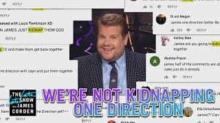 We Cannot Kidnap & Reunite One Direction