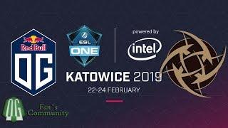 OG vs NiP - Game 1 - ESL One Katowice 2019 - Playoff.