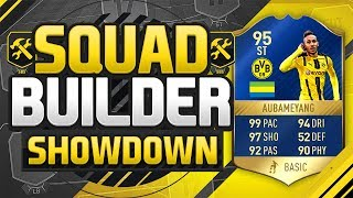 FIFA 17 SQUAD BUILDER SHOWDOWN!!! TEAM OF THE SEASON AUBAMEYANG!!! 99 Pace Aubameyang Squad Duel