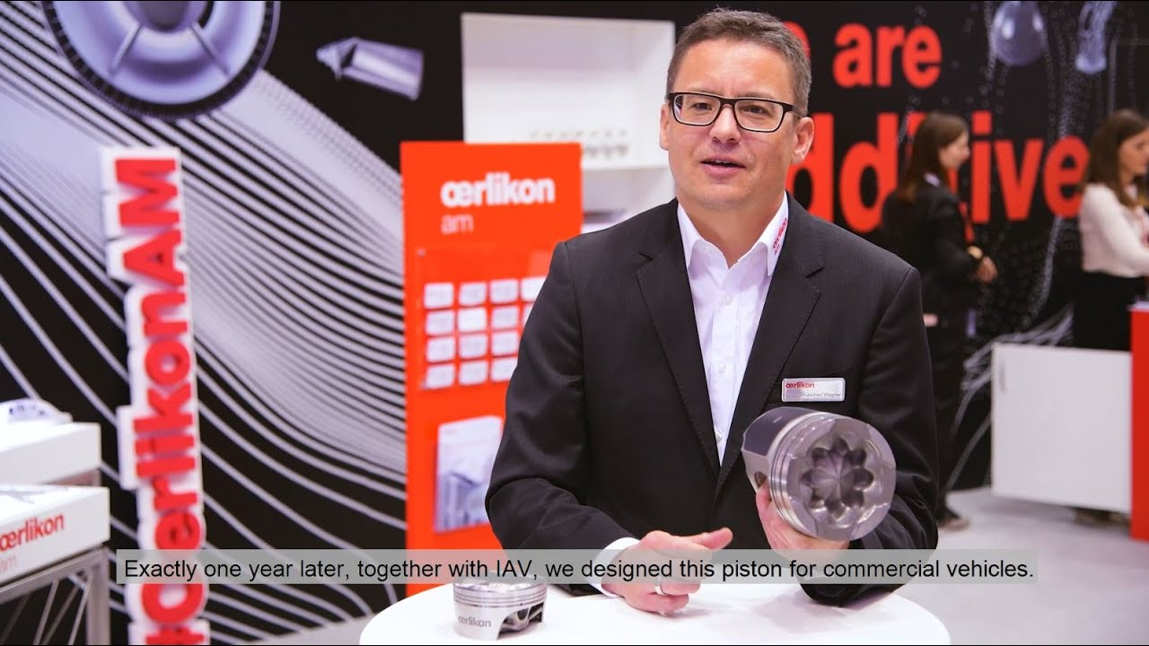 Application Video: IAV GmbH and Oerlikon AM additively manufactured heavy duty piston head