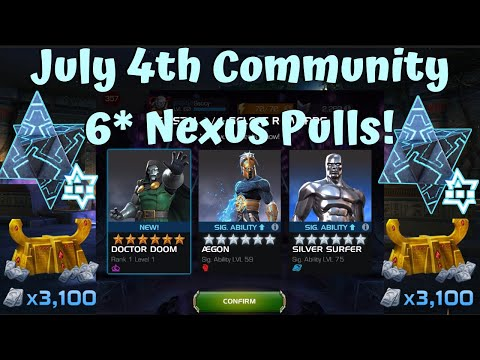 July 4th Community 6* Nexus Pulls! Amazing & Terrible Crystals! - Marvel Contest of Champions
