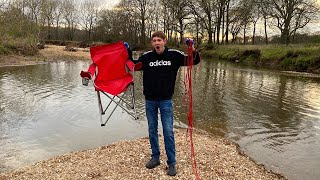 Magnet Fishing In The Creek (Giant Magnet!!)