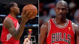 Kawhi Leonard FAKE Pass Move like Michael Jordan - Game 5 | May 23, 2019 NBA Playoffs